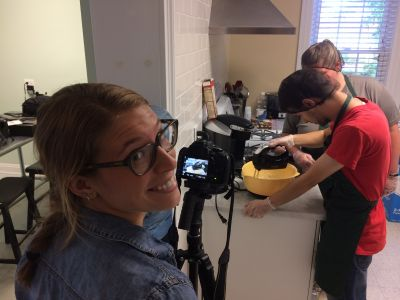 Devon filming at Spectrum Bakes