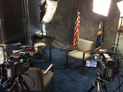 Setup in Senator Phillips conference room