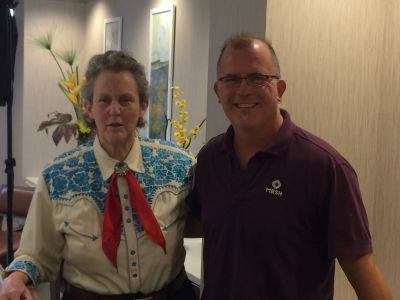Stephen with Dr. Temple Grandin