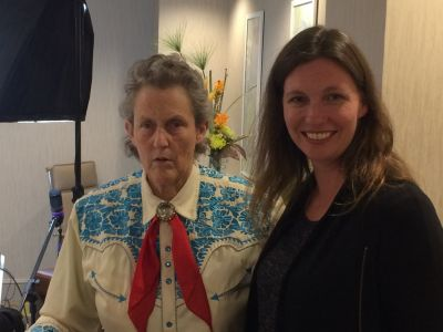 Shannon with Dr. Temple Grandin