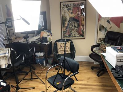 Setting up in Stella's office